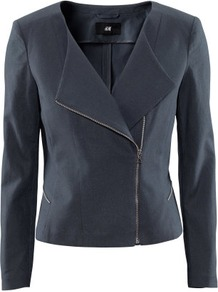 Linen Jacket - pattern: plain; style: single breasted blazer; collar: standard lapel/rever collar; predominant colour: navy; occasions: casual, evening, work; length: standard; fit: tailored/fitted; fibres: linen - mix; waist detail: fitted waist; sleeve length: long sleeve; sleeve style: standard; texture group: cotton feel fabrics; collar break: medium; pattern type: fabric; pattern size: standard