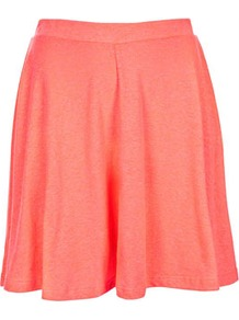 Fluro Orange Speckle Skirt - length: mid thigh; pattern: plain; fit: loose/voluminous; waist: mid/regular rise; predominant colour: bright orange; occasions: casual, work, holiday; style: a-line; fibres: polyester/polyamide - mix; trends: fluorescent, volume; pattern type: fabric; pattern size: small &amp; light; texture group: jersey - stretchy/drapey