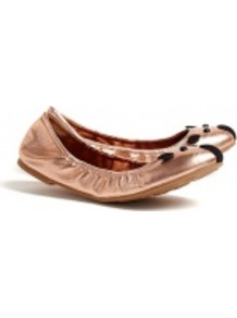 Nuova Love Elasticated Mouse Ballet Pumps Marc Marc Ja - predominant colour: gold; occasions: casual; material: leather; heel height: flat; toe: round toe; style: ballerinas / pumps; trends: metallics; finish: metallic; pattern: plain
