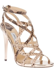 'Delhia' Sandal - predominant colour: nude; occasions: evening, occasion; material: leather; heel height: high; ankle detail: ankle strap; heel: stiletto; toe: open toe/peeptoe; style: strappy; finish: plain; pattern: animal print