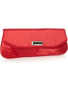 Designer Dark Pink Mirror Gem Clutch Bag - predominant colour: coral; occasions: evening, occasion; type of pattern: standard; style: clutch; length: hand carry; size: small; material: satin; pattern: plain; finish: plain; embellishment: jewels