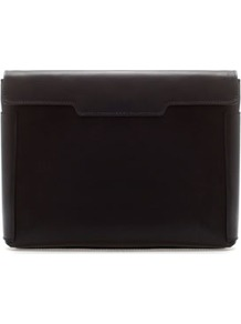 Leather Clutch - predominant colour: black; occasions: casual, evening, work; type of pattern: standard; style: clutch; length: hand carry; size: small; material: leather; pattern: plain; finish: plain