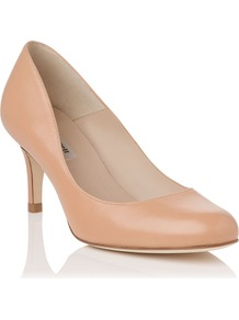 Sabira Closed Court, Blush - predominant colour: nude; occasions: evening, work, occasion; material: leather; heel height: high; heel: stiletto; toe: round toe; style: courts; finish: plain; pattern: plain