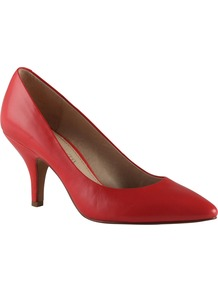 Bonomi Court Shoes, Peach - predominant colour: coral; occasions: casual, evening, work; material: leather; heel height: mid; heel: stiletto; toe: pointed toe; style: courts; finish: plain; pattern: plain