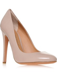 Eden Court Shoes, Nude - predominant colour: nude; occasions: evening, work, occasion; material: leather; heel height: high; heel: stiletto; toe: round toe; style: courts; finish: patent; pattern: plain
