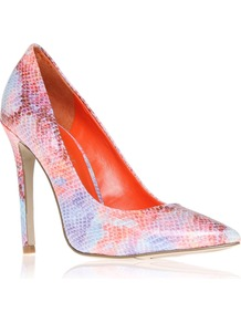 Goodlookin3 Court Shoes, Pink - occasions: evening, occasion; predominant colour: multicoloured; material: leather; heel height: high; heel: stiletto; toe: pointed toe; style: courts; finish: patent; pattern: animal print