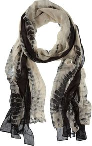 Lizzy Print Scarf, Multi Coloured - predominant colour: stone; occasions: casual, evening, work; type of pattern: heavy; style: regular; size: standard; material: fabric; pattern: animal print