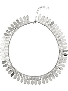 Smooth Silver Stick Collar - predominant colour: silver; occasions: evening, work, occasion; style: choker/collar; length: short; size: standard; material: chain/metal