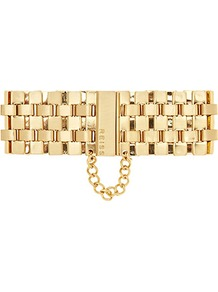 Alicia Metal Chain Bracelet - predominant colour: gold; occasions: casual, evening, work; style: chain; size: large/oversized; material: chain/metal; finish: plain; embellishment: chain/metal