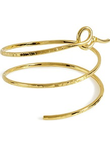 Gold Plated Snake Cuff - predominant colour: gold; occasions: casual, evening, occasion, holiday; style: cuff; size: small; material: chain/metal; finish: metallic