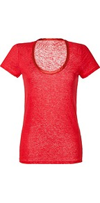 Vermilion Linen Top - neckline: round neck; pattern: plain; style: t-shirt; predominant colour: true red; occasions: casual; length: standard; fibres: linen - 100%; fit: straight cut; sleeve length: short sleeve; sleeve style: standard; texture group: linen; pattern type: fabric