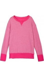 Fuchsia Stadium Sweatshirt Current Elliot - pattern: plain; style: sweat top; shoulder detail: contrast pattern/fabric at shoulder; predominant colour: pink; occasions: casual; length: standard; fibres: cotton - mix; fit: body skimming; neckline: crew; sleeve length: long sleeve; sleeve style: standard; trends: sporty redux; pattern type: fabric; pattern size: small & light; texture group: jersey - stretchy/drapey