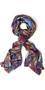 Exclusive O&#x27;hara Silk Scarf - occasions: casual, evening, work, occasion, holiday; predominant colour: multicoloured; type of pattern: large; style: regular; size: standard; material: silk; trends: statement prints; pattern: patterned/print