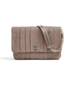 Gracie Leather Shoulder Bag - predominant colour: taupe; occasions: casual, evening, work, occasion; type of pattern: standard; style: shoulder; length: shoulder (tucks under arm); size: standard; material: leather; embellishment: pleated; pattern: plain; finish: plain