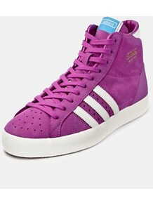 Basket Profi High Tops, Pink - predominant colour: magenta; occasions: casual, work; material: suede; heel height: flat; ankle detail: ankle tie; toe: round toe; style: trainers; trends: sporty redux; finish: plain; pattern: striped