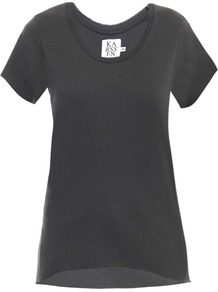 Oversized Basic T Shirt - neckline: round neck; pattern: plain; style: t-shirt; predominant colour: charcoal; occasions: casual, holiday; length: standard; fibres: cotton - 100%; fit: body skimming; sleeve length: short sleeve; sleeve style: standard; pattern type: fabric; pattern size: standard; texture group: jersey - stretchy/drapey