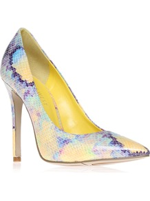 Goodlookin3 - occasions: evening, work, occasion, holiday; predominant colour: multicoloured; material: fabric; heel height: high; heel: stiletto; toe: pointed toe; style: courts; finish: fluorescent; pattern: patterned/print