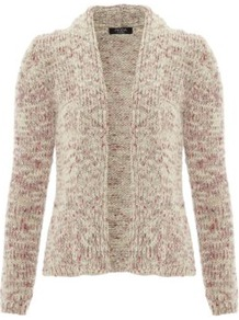 Moda Chunky Knit Cardigan Wheat - pattern: plain; neckline: collarless open; style: open front; predominant colour: stone; occasions: casual, work; length: standard; fibres: acrylic - mix; fit: standard fit; sleeve length: long sleeve; sleeve style: standard; texture group: knits/crochet; pattern type: knitted - other