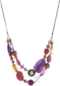 Beaded Necklace Multi - occasions: casual, evening, work, holiday; predominant colour: multicoloured; style: multistrand; length: mid; size: large/oversized; material: chain/metal; finish: plain; embellishment: jewels