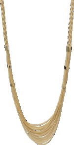 Lawrence Long Necklace - predominant colour: gold; occasions: casual, evening, work, occasion; style: multistrand; length: long; size: large/oversized; material: chain/metal; trends: metallics; finish: metallic; embellishment: chain/metal