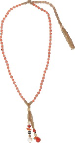 Zazi Necklace With Pendants - occasions: casual, evening, work, holiday; predominant colour: multicoloured; style: pendant; length: long; size: standard; material: chain/metal; trends: fluorescent; finish: plain; embellishment: beading