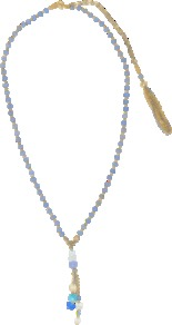 Ondina Necklace With Pendants - predominant colour: pale blue; occasions: casual, evening, work, holiday; style: pendant; length: long; size: standard; material: chain/metal; finish: fluorescent; embellishment: beading