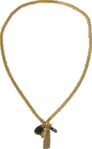 Charm's Lilou Rope Necklace - predominant colour: gold; occasions: casual, evening, work, holiday; style: pendant; length: long; size: standard; material: chain/metal