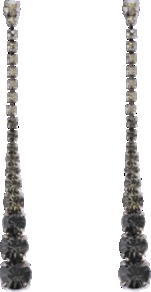 Crystal Earrings - occasions: evening, occasion; predominant colour: multicoloured; style: drop; length: long; size: standard; material: chain/metal; fastening: pierced; embellishment: crystals