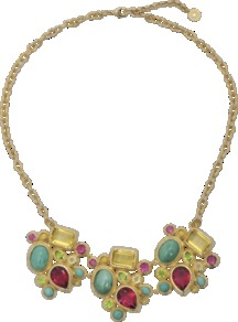 Nymph Of The Nile Necklace - predominant colour: gold; occasions: evening, occasion, holiday; style: bib; length: mid; size: large/oversized; material: chain/metal; trends: metallics; finish: metallic; embellishment: jewels