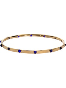 Bangle Bracelet - predominant colour: gold; occasions: casual, evening, work, occasion, holiday; style: bangle; size: small/fine; material: chain/metal; trends: fluorescent, metallics; finish: fluorescent; embellishment: jewels