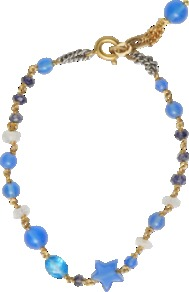 Ondina Bracelet - predominant colour: diva blue; occasions: casual, evening, work, holiday; style: friendship bracelet; size: small/fine; material: chain/metal; trends: fluorescent; finish: fluorescent; embellishment: beading