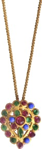 Ja?Pur Necklace - predominant colour: gold; occasions: evening, work, occasion, holiday; style: pendant; length: mid; size: standard; material: chain/metal; trends: metallics; finish: metallic; embellishment: jewels