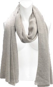 Cashmere And Lurex Scarf - predominant colour: stone; occasions: casual, evening, work; type of pattern: light; style: snood; size: standard; material: knits; pattern: plain; trends: metallics
