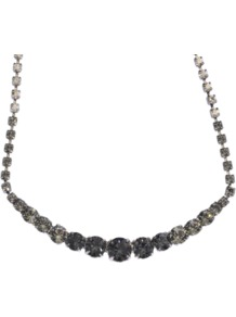 Crystal Necklace - predominant colour: silver; occasions: evening, work, occasion; style: standard; length: mid; size: standard; material: chain/metal; embellishment: crystals