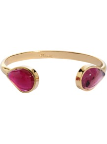Bangle Bracelet - predominant colour: gold; occasions: evening, work, occasion, holiday; style: bangle; size: standard; material: chain/metal; trends: fluorescent, metallics; finish: metallic; embellishment: jewels