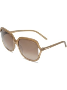 Nr3226 Oversized Sunglasses - predominant colour: camel; occasions: casual, holiday; style: square; size: large; material: plastic/rubber; pattern: plain; finish: plain