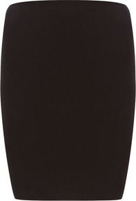 Petite Pencil Skirt - pattern: plain; style: pencil; fit: tight; waist: mid/regular rise; predominant colour: black; occasions: evening, work; length: just above the knee; fibres: viscose/rayon - stretch; pattern type: fabric; texture group: jersey - stretchy/drapey