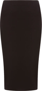 Black Jersey Tube Skirt - length: below the knee; pattern: plain; fit: tight; waist detail: elasticated waist; hip detail: fitted at hip; waist: mid/regular rise; predominant colour: black; occasions: evening, work; fibres: viscose/rayon - stretch; style: tube; pattern type: fabric; texture group: jersey - stretchy/drapey