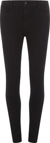 Black High Waist Superskinny Jeans - style: skinny leg; length: standard; pattern: plain; pocket detail: traditional 5 pocket; waist: mid/regular rise; predominant colour: black; occasions: casual, evening, work; fibres: cotton - 100%; texture group: denim; pattern type: fabric