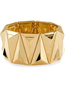 Bracelet - predominant colour: gold; occasions: evening, work, occasion, holiday; style: cuff; size: large/oversized; material: chain/metal; trends: metallics; finish: metallic; embellishment: chain/metal