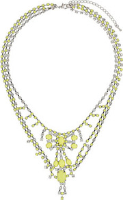 Bling Rhinestone Collar - predominant colour: yellow; occasions: evening, occasion, holiday; style: multistrand; length: mid; size: large/oversized; material: chain/metal; trends: fluorescent, metallics; finish: fluorescent; embellishment: jewels
