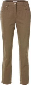 Cotton Trousers - length: standard; pattern: plain; waist: mid/regular rise; predominant colour: camel; occasions: casual; fibres: cotton - stretch; texture group: cotton feel fabrics; fit: straight leg; pattern type: fabric; pattern size: standard; style: standard