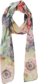 Multicoloured Digital Floral Print Chiffon Scarf - occasions: casual; predominant colour: multicoloured; style: regular; size: standard; pattern: florals; material: tulle/sheer