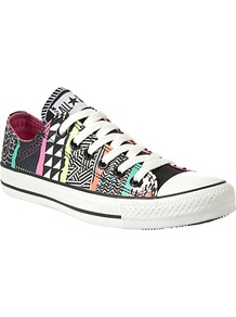 Chuck Taylor All Stars Hyperculture Print Trainers, Multi - occasions: casual; predominant colour: multicoloured; material: fabric; heel height: flat; toe: round toe; style: trainers; trends: modern geometrics; finish: plain; pattern: horizontal stripes