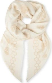 Bee Skull Modal And Silk Blend Pashmina - predominant colour: ivory; occasions: casual, evening, work, occasion, holiday; type of pattern: standard; style: pashmina; size: standard; material: silk; pattern: plain