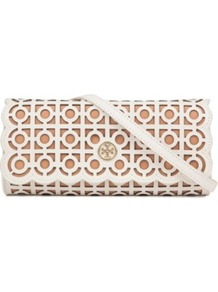 Kelsey Clutch - predominant colour: white; occasions: evening, occasion; type of pattern: standard; style: clutch; length: hand carry; size: small; material: leather; finish: plain; pattern: patterned/print