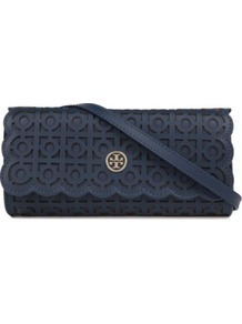 Kelsey Clutch - predominant colour: navy; occasions: evening, occasion; style: clutch; length: hand carry; size: small; material: leather; pattern: plain; finish: plain