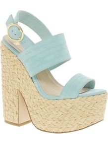 Heard Platforms - predominant colour: pistachio; secondary colour: nude; occasions: casual, evening, occasion, holiday; material: suede; ankle detail: ankle strap; heel: platform; toe: open toe/peeptoe; style: strappy; finish: plain; pattern: plain; heel height: very high