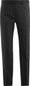 Lightweight Tailored Trousers - pattern: plain; waist: mid/regular rise; predominant colour: black; occasions: casual, work; length: ankle length; fibres: wool - mix; fit: slim leg; pattern type: fabric; pattern size: standard; texture group: other - light to midweight; style: standard