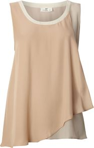 Women's Day Trinity Top, Nude - neckline: round neck; pattern: plain; sleeve style: sleeveless; predominant colour: nude; occasions: casual, evening, holiday; length: standard; style: top; fibres: silk - 100%; fit: straight cut; back detail: longer hem at back than at front; sleeve length: sleeveless; texture group: silky - light; pattern type: fabric; pattern size: standard
